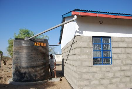 Ileret ward water tank and gutters
